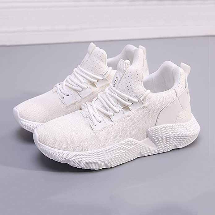 Weiße Turnschuhe Frauen Sommer Casual Breathable Lace up