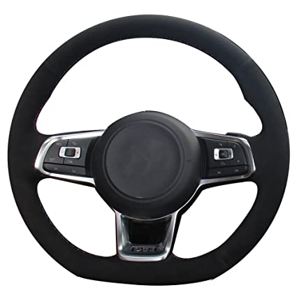 Amazon.com: XuJi Suede Genuine Leather Steering Wheel Cover for 2015 on