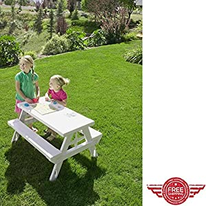 Collapsible Picnic Table,Outdoor Indoor Lawn Garden Yard,Portable Folding Retractable Plastic Modular Furniture For Kids,Picnic Dinner Party Lounge Kit & Ebook by Easy 2 Find. by GT