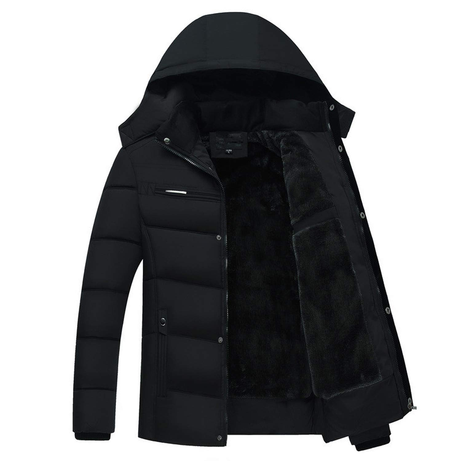 grande vente 39b03 2b7ee Amazon.com: Winter Thick Down Jacket Hooded Coats Thick Down ...