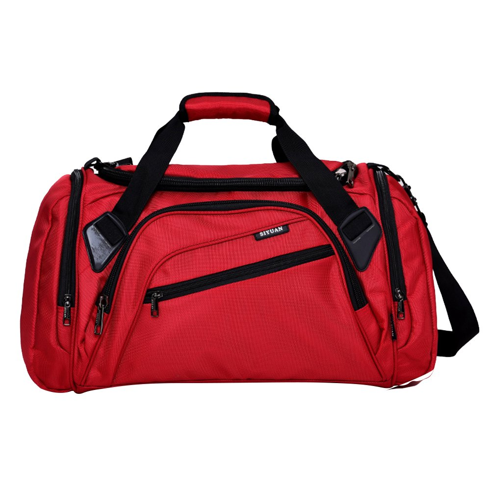 SIYUAN Sports Duffel Bag, Waterproof Athletic Gym Bag with Shoe Compartment