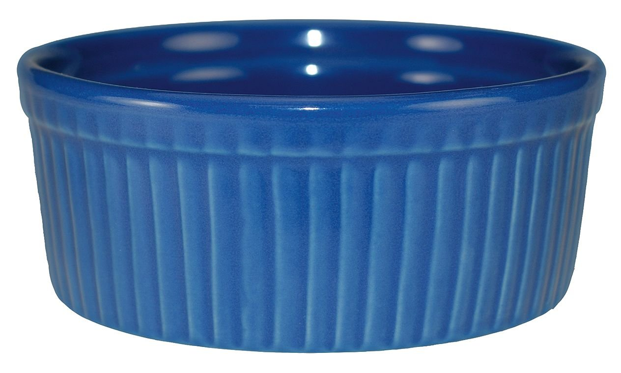 International Tableware Ceramic Fluted Ramekin, 6 oz, Light Blue by International Tableware, Inc. (Image #1)