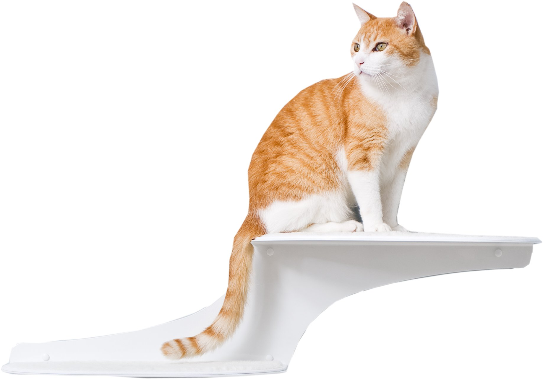 The Refined Feline Cat Cloud Cat Shelves in White, Right Facing by The Refined Feline