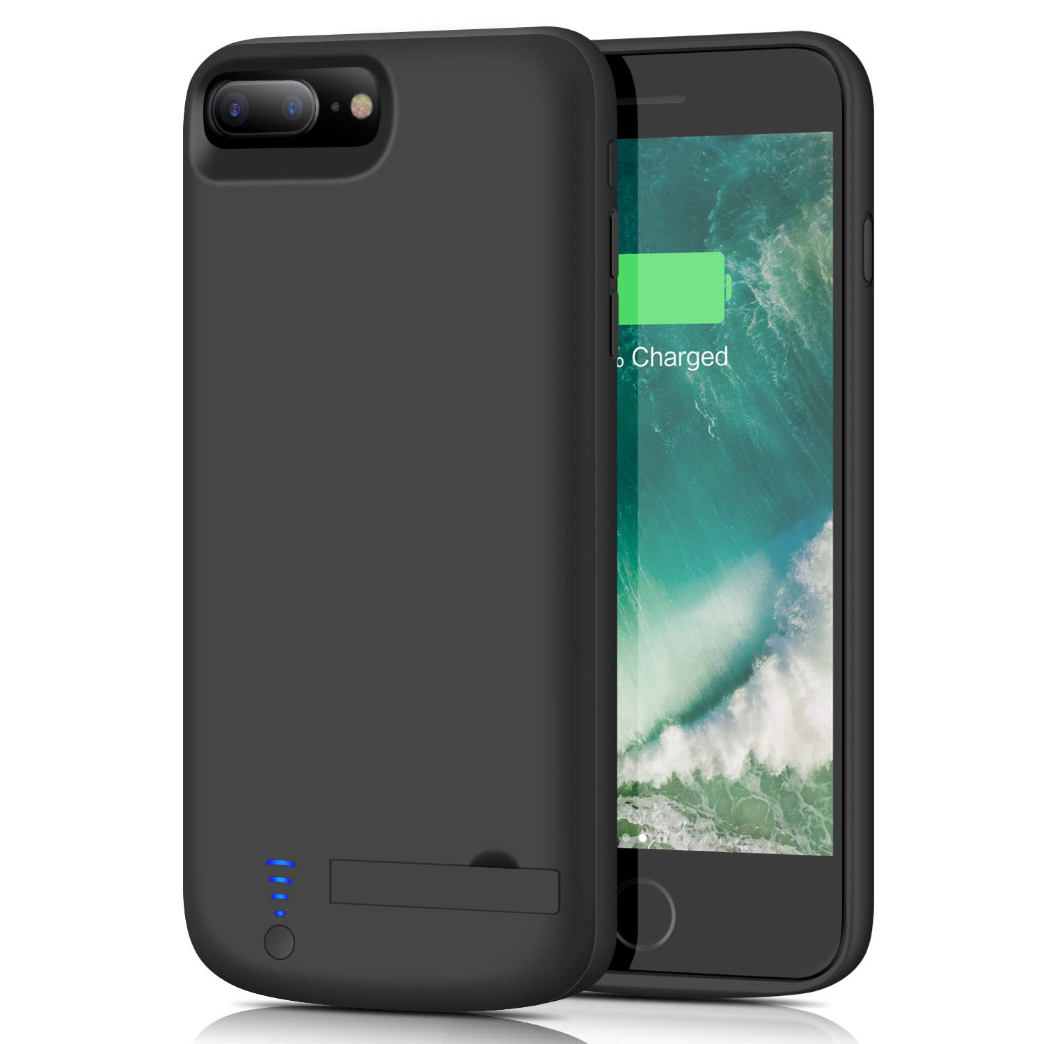 musttrue Battery Case for iPhone 8 Plus / 7 Plus, Upgraded [8000mAh] Portable Protective Charging Case for iPhone 8Plus & 7Plus Extended Backup Charger (5.5 inch)- Black by musttrue