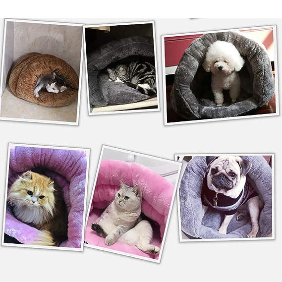 Cama Zona Sueño Moderna Abrazo Cueva Mascotas, Cama Acogedora Triángulo Para Gatos Y Perros Pequeños, Tienda De Campaña Para Mascotas Madriguera Cama Perrera Saco De Dormir,Gris,M:40 * 40 * 30CM: Amazon.es: Hogar