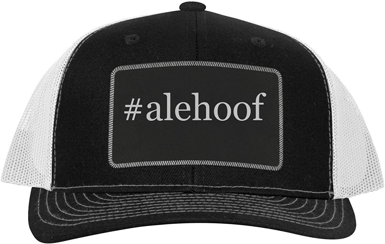 One Legging it Around got ahniya? Leather Black Patch Engraved Trucker Hat