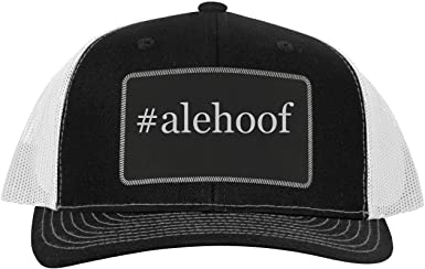One Legging it Around #halleck Leather Hashtag Black Patch Engraved Trucker Hat