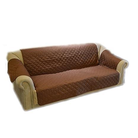 UEETEK Protector funda para sofá impermeable sofá cubierta para gato perro (marrón)