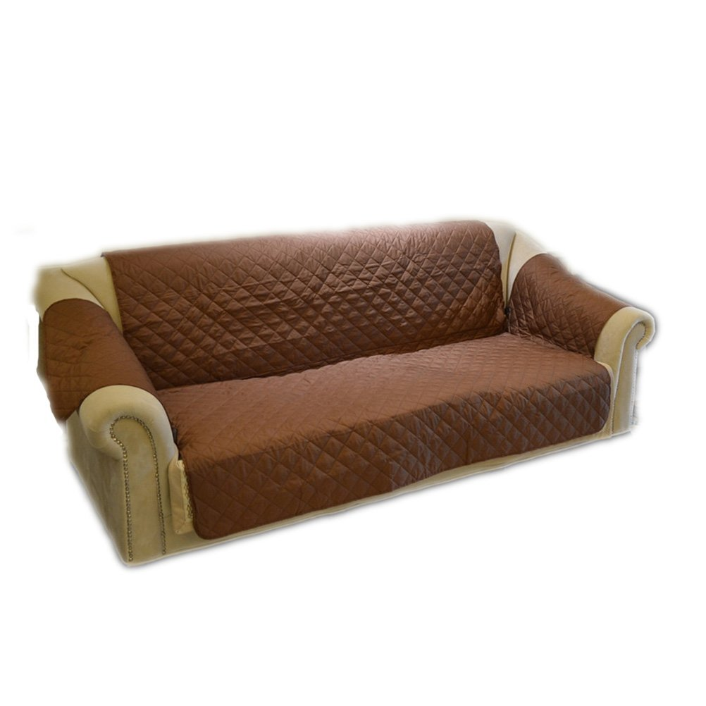 UEETEK Sofa Cover Protector Waterproof for Pets Cat Dog (Brown)