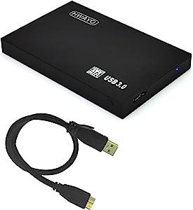 HWAYO 2.5'' 750GB Ultra Slim Portable External Hard Drive USB3.0 HDD Storage for PC/Desktop/Laptop/MacBook/Chromebook/Xbox One (Black)