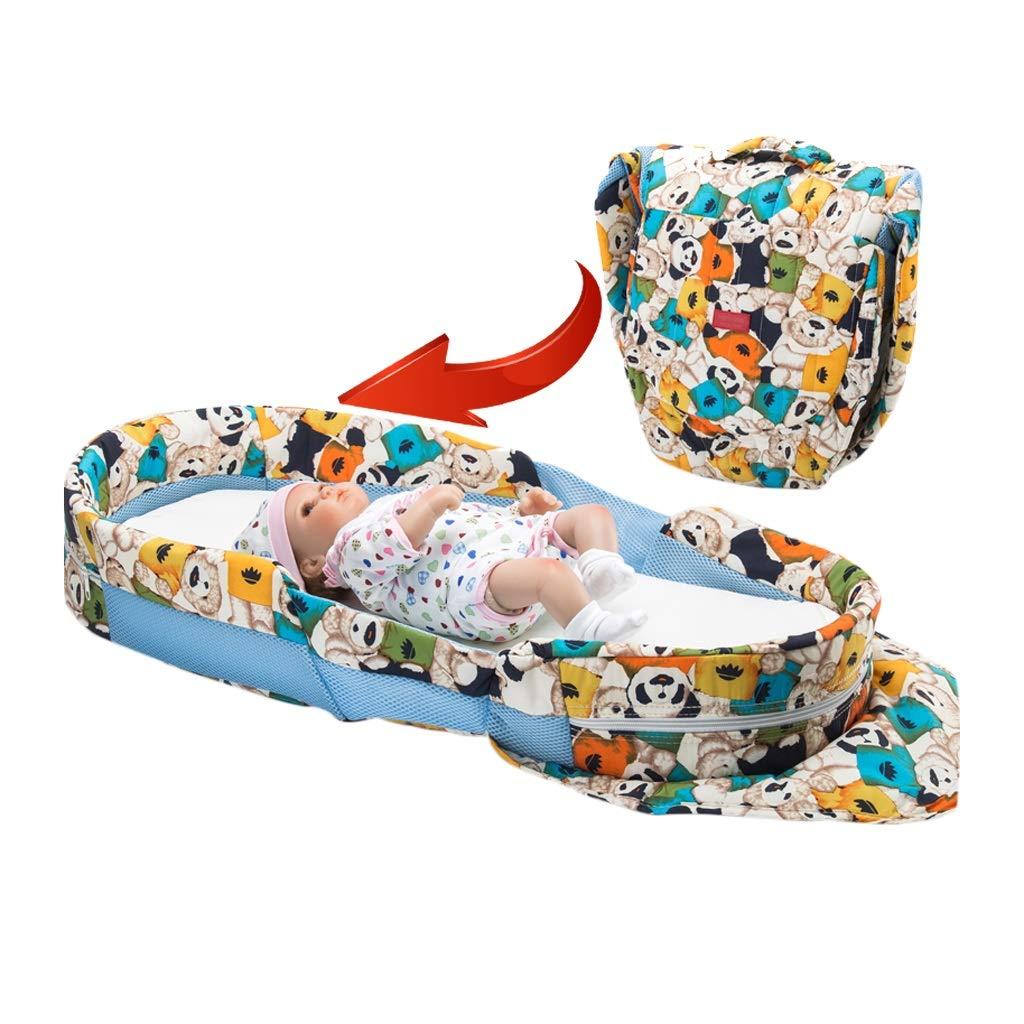 HUYP Baby Girl Sleep Pod Game Mat Newborn Crawling Mat Collapsible Cotton Anti-Pressure Bionic Bed 0-12 Month Boy (Color : Orange)