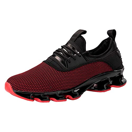 Zapatos Hombre Deportivas Hombre Ofertas Zapatillas De Deporte De Malla con Cordones Deportivos para Hombres Ocasionales Resistentes Al Desgaste ...