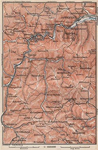Amazon.com: AHR & ADENAUER BACH VALLEYS. Ahrweiler Altenahr topo-map ...