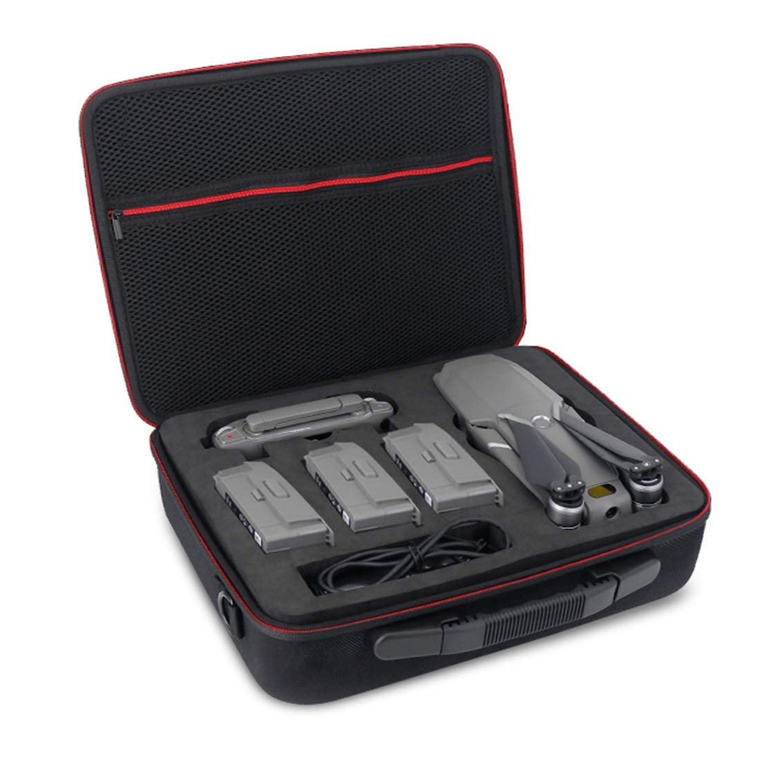 Yamix Shoulder Bag Travel Bag Carrying Case Carrying Bag with 4 Batteries Storage Case for DJI Mavic 2 PRO/ Mavic 2 Zoom - 1680D by Yamix (Image #1)