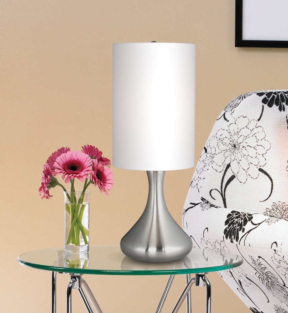 Brushed steel 17 high mini droplet accent table lamp amazon aloadofball Gallery