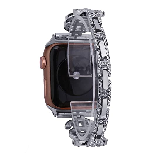Amazon.com : XBKPLO Compatible for Apple Watch Band 38mm 40mm, Series 4 Diamond Jewelry Replacement Watch Strap Women Series 3/2/1 Cuff Bracelet : Pet ...