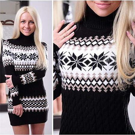 Lnlyin Womens Long Knitted Jumpers For Women Ladies Sweater Knitwear