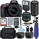 Nikon D5600 24.2 MP DSLR Camera with AF-P DX 18-55mm and 70-300mm NIKKOR Zoom Lens + 32 GB Sandisk Memory Card + Deluxe Accessory Bundle