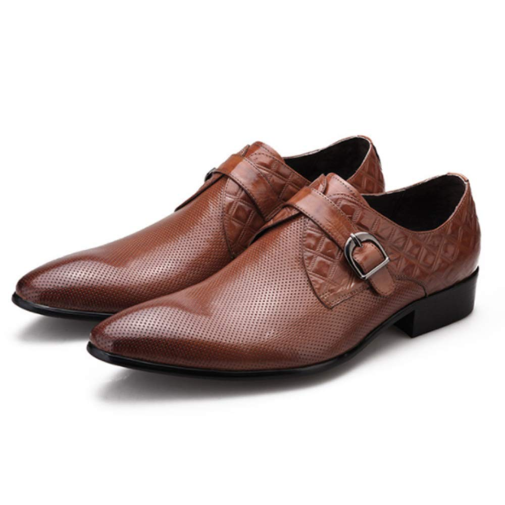 XDLJL Business Explosive Herren Kleid Schuhe Business XDLJL Schuhe Herren Wildleder Herrenschuhe Leder YellowBraun 36c8d0