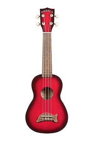 Kala MKSDR - Ukelele, clavijero de engranajes, color rojo