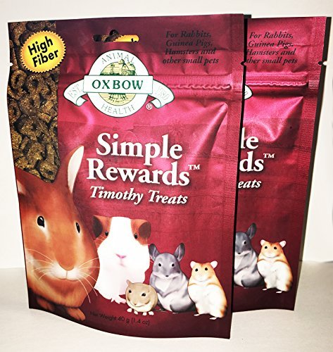 2 Pack Oxbow Animal Health Simple Rewards Timothy Treat for Pets (2 / 1.4 oz) by Oxbow Simple Rewards (Image #1)