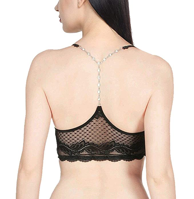 8b5aab2ba9 WEBBOON New Back Stone Lace Bralette Soft Padded Bra