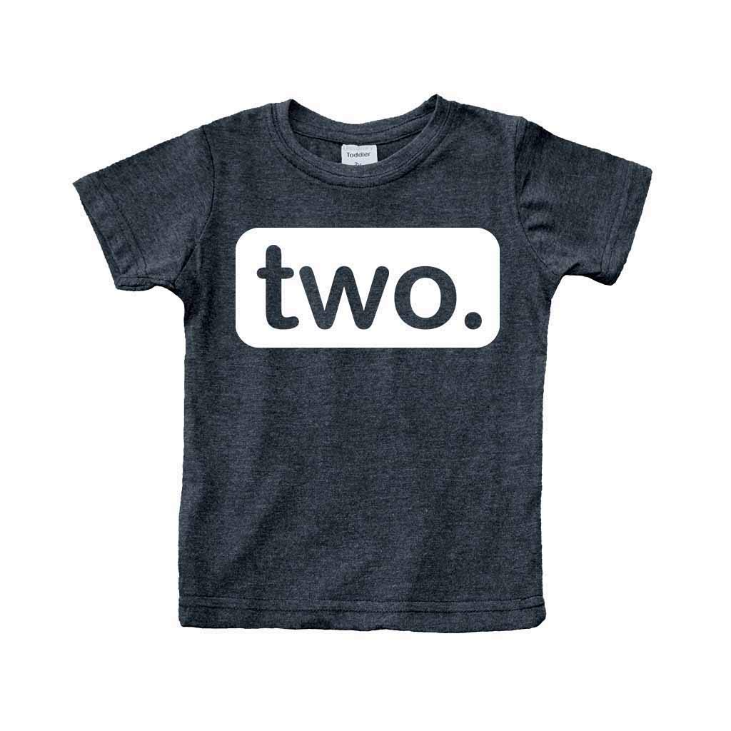 Unordinary Toddler 2nd Birthday Shirt (2y, Charcoal Black)