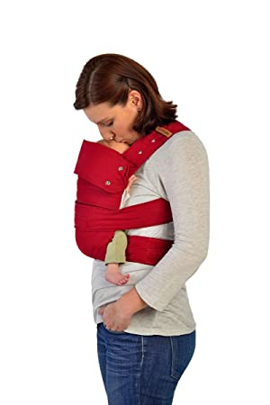 Marsupi Compact Front And Hip Baby Carrier Ruby Red