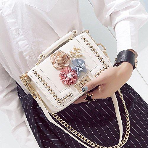 Borse Elegante In Borsa Rose Donna ✿✿yesmile Ricamo bianco Crossbody Da A Spalla Tracolla Similpelle Pelle Donne Shopper bianco rr5wF1