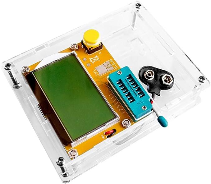 Chiic Bo/îte de Coque en acrylique Transparent pour Lcr-t4/ESR transistor testeur de Capacitance kit