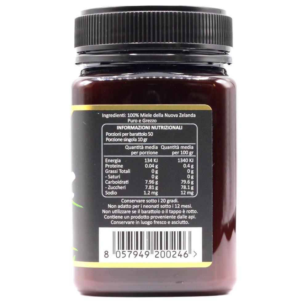 Miel de Manuka 400+ MGO 500g | Producida en Nueva Zelanda, activa y cruda, 100% pura y natural | Metilglioxial probado | NATURALEPIÙ: Amazon.es: ...