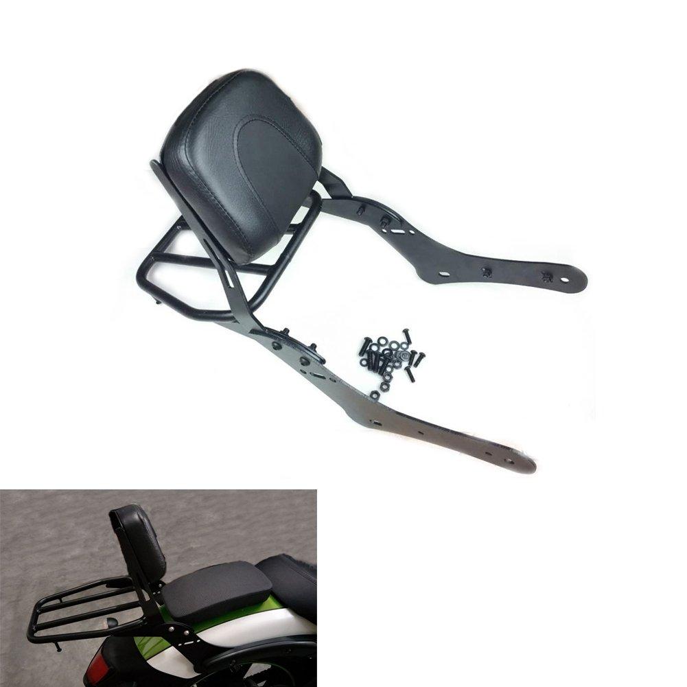 Alpha Rider Detachable Black Passenger Back Rest Rear Seat Rack Luggage Shelf Holder Rack Stock Cushion Pad Sissy Bar For Kawasaki Vulcan S 650 EN650 2015 2016 2017