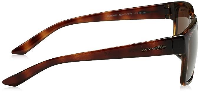 d1b7776f34 Arnette Men's Reserve Square Sunglasses, Dark Havana, 57 mm: Amazon.com.mx:  Ropa, Zapatos y Accesorios