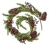 Cypress Home Pinecone Holiday Garland, 6 Foot