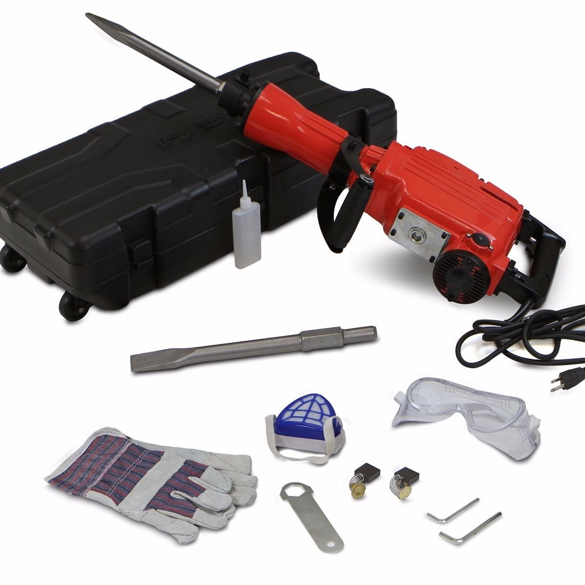 COLIBROX-- HD 2200 Watt Electric Demolition Jack Hammer Concrete Breaker Punch Chisel Bit by COLIBROX