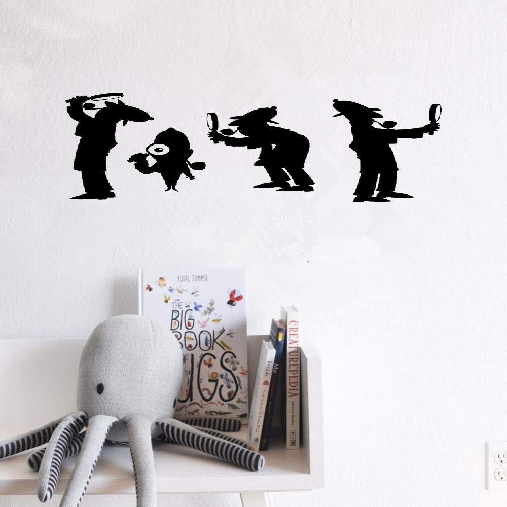 Decorative wall stickers Removable Vinyl Decal Art Mural Home Decor Agent Detective Nursery