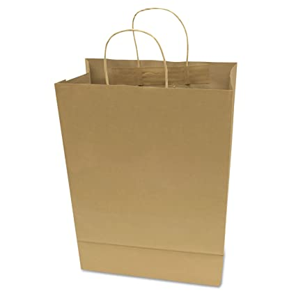 Captivating COSCO Premium Small Brown Paper Shopping Bag, 50/Box (091565)
