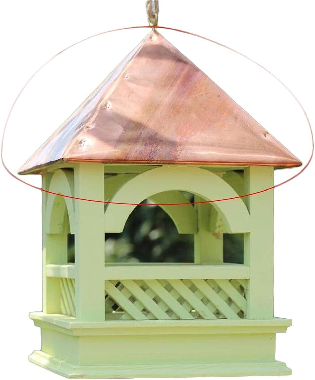 GSHWJS El alimentador Cubierto de Madera del pájaro/la Taza al Aire Libre de la Comida de pájaro de la ejecución/la Anti-caída y la Lluvia Gran Capacidad diseñan Comedero para pájaros