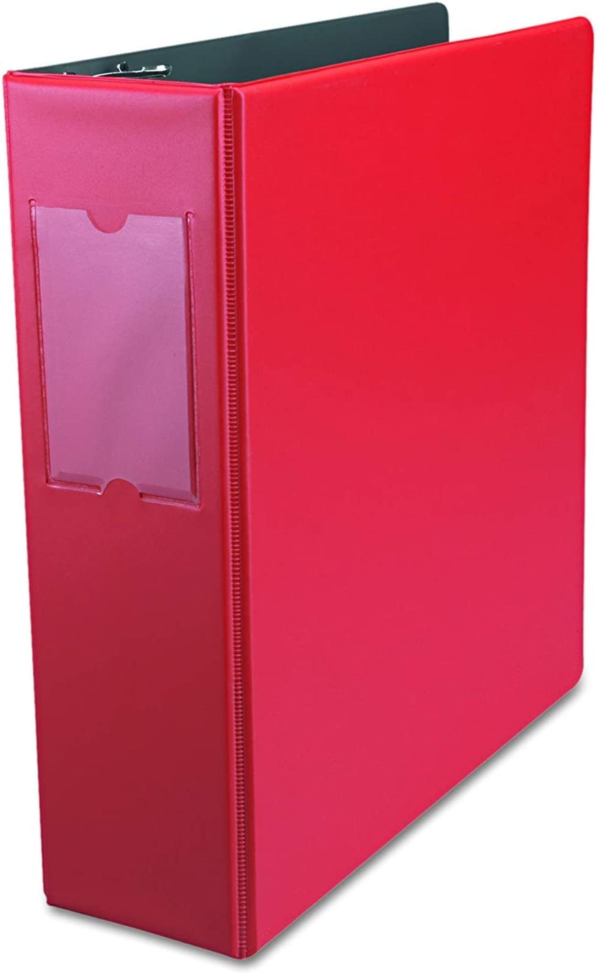 """Universal 35413 Economy Non-View Round Ring Binder With Label Holder, 3"""" Capacity, Red [並行輸入品]"""