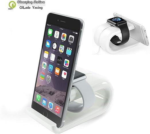 Soporte 2 en 1 para Apple Watch y iPhone, soporte de carga de ...