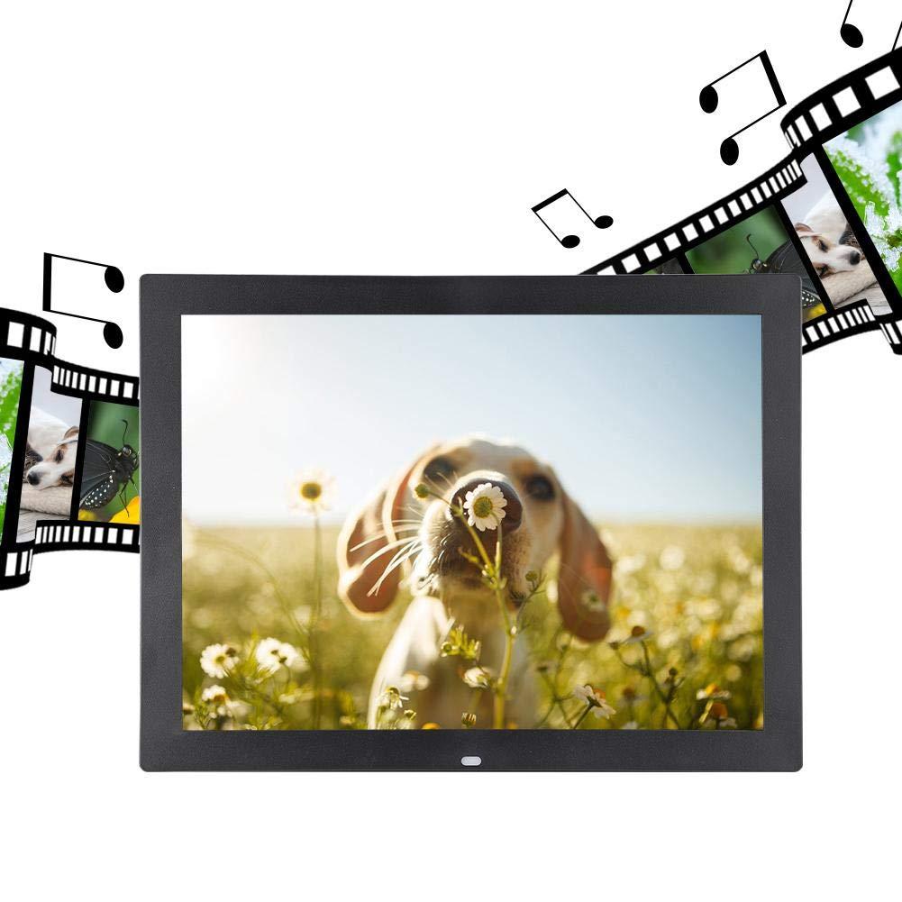 15  HD LED Tactile Photo Desk Desk Calendrier//R/éveil//Musique//Vid/éo lanniversaire Le Mariage Black-EU Plug Les Amis Contr/ôleur Cadeau Merveilleux pour la Famille Cadre Photo num/érique