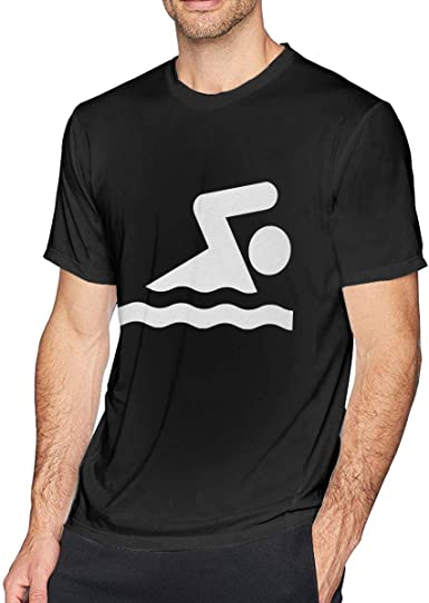 Nadador Nadador con Cuello Redondo, Camiseta de Manga Corta para Hombre, Camisa Casual para Hombres: Amazon.es: Ropa y accesorios