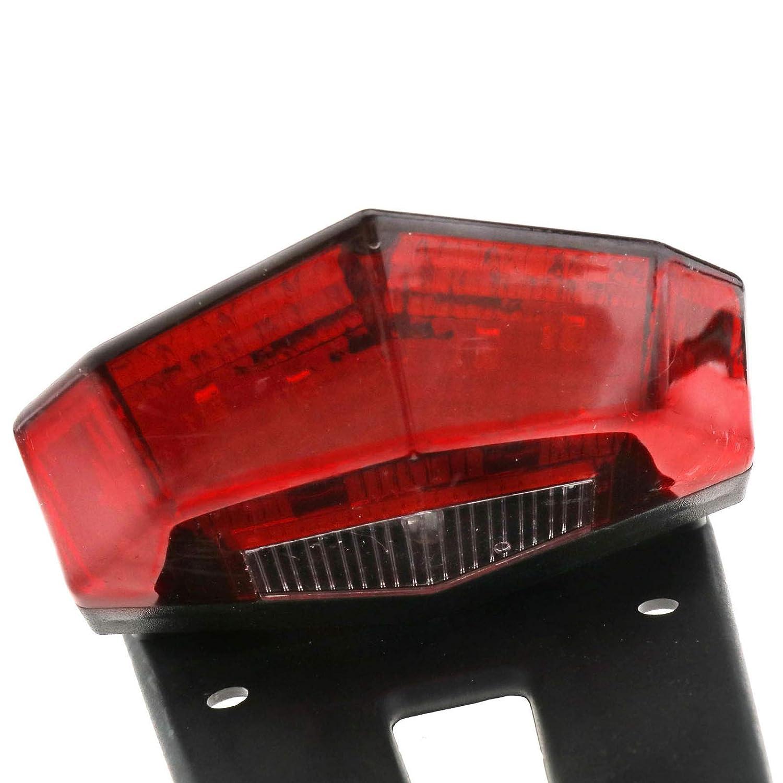 Create Idea 12V Replacement Motorcycle Motorbike Dirt Bike Fender Rear Tail brake Light Red LED