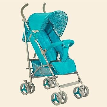 JIANXIN Carro De Bebé Paraguas De Aluminio Súper Ligero Plegable Y Amortiguador Puede Sentarse En El Carrito De Bebé. (Color : Azul): Amazon.es: Hogar