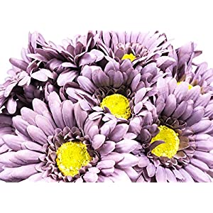 CraftMore Grey Colored Gerbera Daisy Stems 14 Inch Set of 12 32