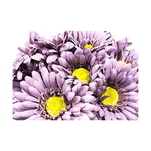 CraftMore Grey Colored Gerbera Daisy Stems 14 Inch Set of 12
