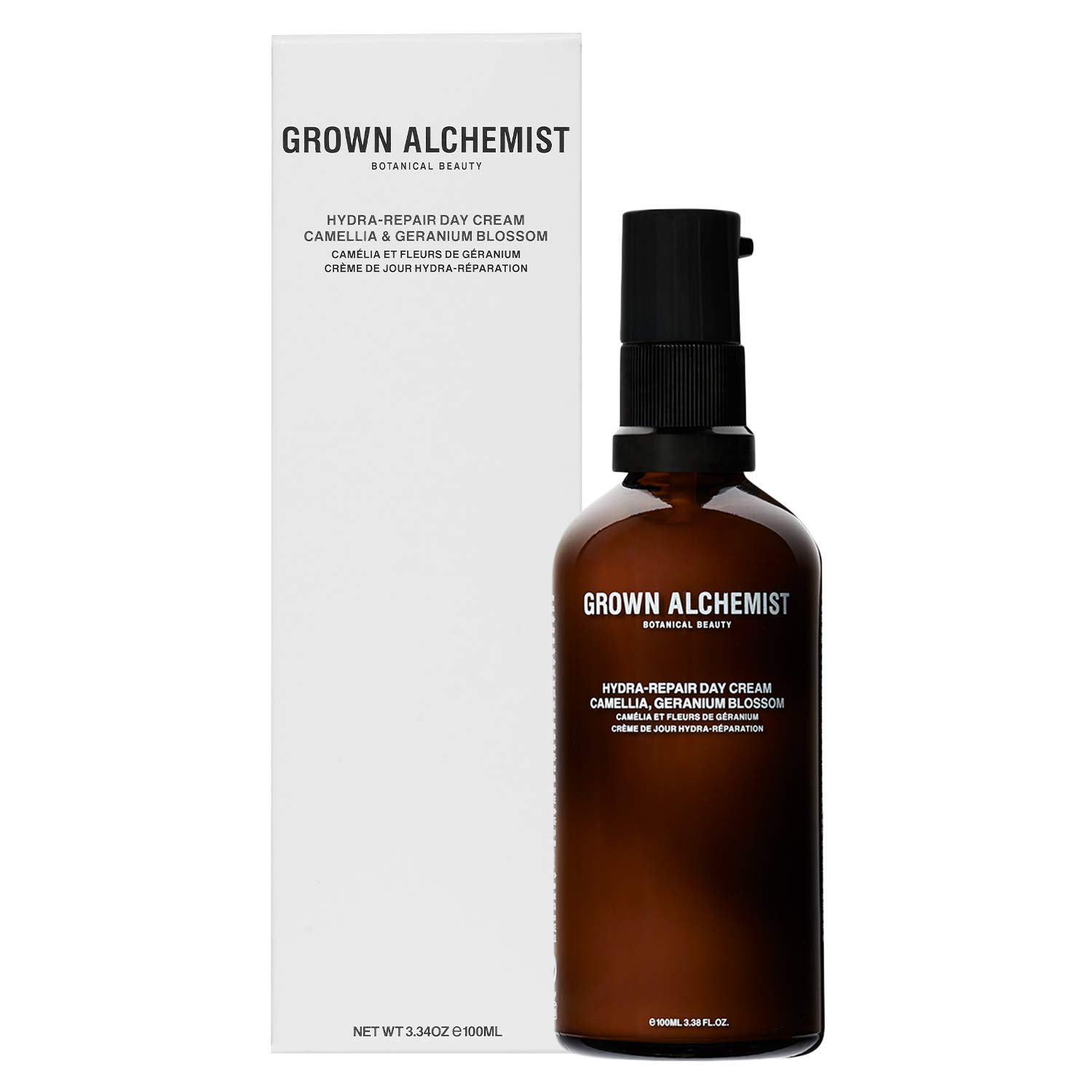 Grown Alchemist Hydra-Repair Day Cream - Camellia & Geranium Blossom - Face Moisturizer Made with Organic Ingredients (100ml / 3.38oz)