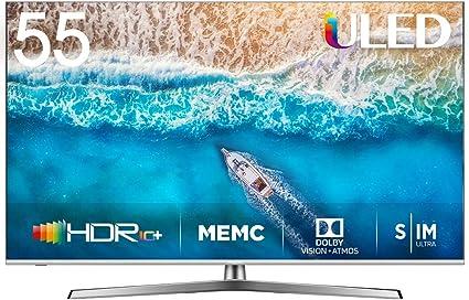 Hisense H55U7BE - Smart TV ULED 55 4K Ultra HD con Alexa Integrada, Bluetooth, Dolby Vision HDR,