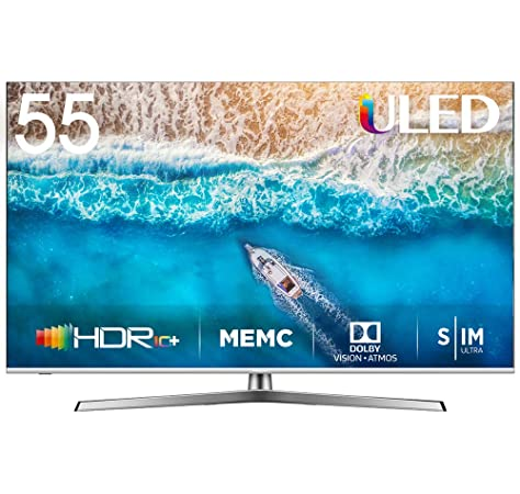 Hisense H55U7B, Smart TV ULED 4K Ultra HD, Dolby Vision HDR, HDR 10+, Audio Dolby Atmos, Ultra Dimming, 802.11ac, Dual-Band (2.4G and 5G) Ethernet RJ-45 HDMI USB Bluetooth, 55