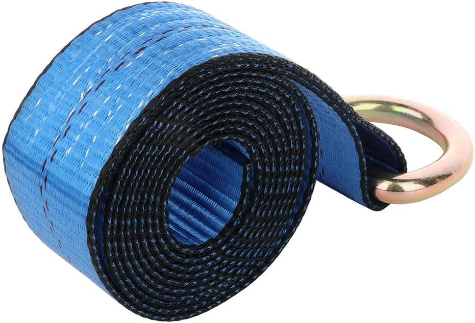 CTCAUTO 4PCS 8 Lasso Strap Tie Down Wheel Lift Rollback Tow Truck Hauler Car Trailer BLUE